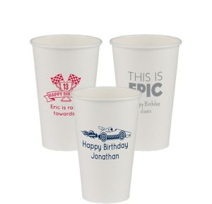 Personalized Boys Birthday Paper Cups 16oz