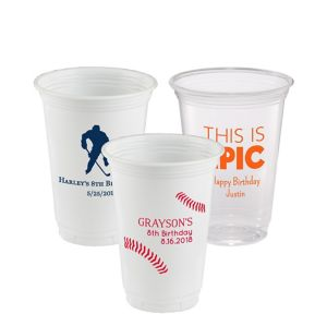 Personalized Boys Birthday Plastic Party Cups 16oz