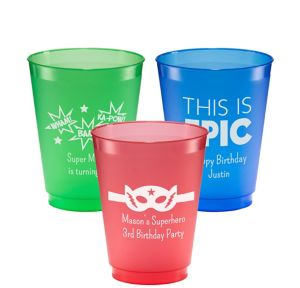 Personalized Boys Birthday Plastic Shatterproof Cups 16oz