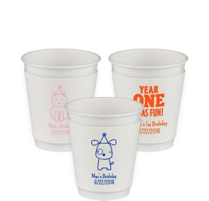 Personalized 1st Birthday Insulated Paper Cups 12oz