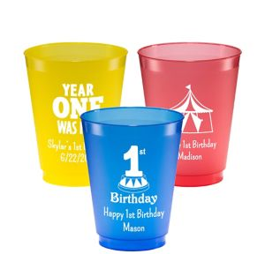 Personalized 1st Birthday Plastic Shatterproof Cups 16oz