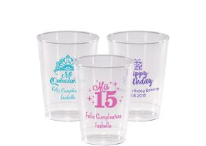Personalized Milestone Birthday Hard Plastic Cups 10oz