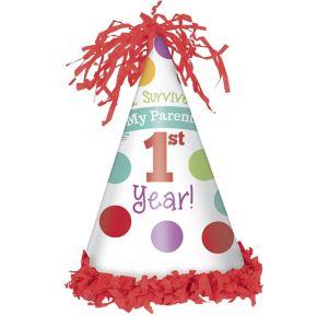 Surviving Parent's 1st Year Party Hat