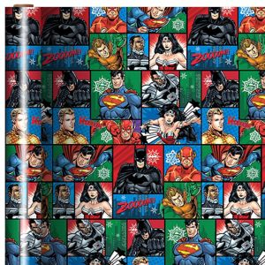 Justice League Christmas Gift Wrap
