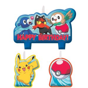 Pokemon Core Core Birthday Candles 4ct