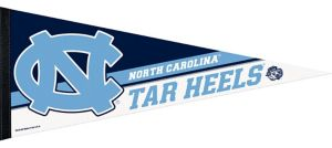 North Carolina Tar Heels Pennant Flag