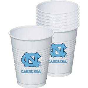 North Carolina Tar Heels Plastic Cups 8ct