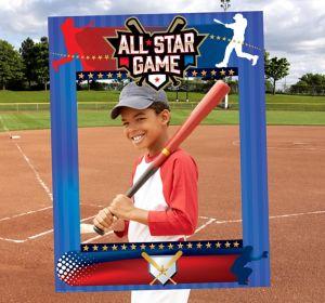 Giant Baseball Photo Booth Frame
