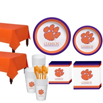 Clemson Tigers Basic Party Kit for 40 Guests
