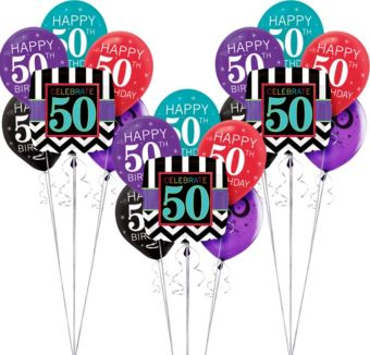 Celebrate 50 Birthday Balloon Kit