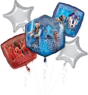 Star Wars 8 The Last Jedi Balloon Bouquet 5pc