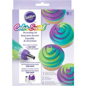 Wilton Color Swirl Icing Decorating Set 9pc