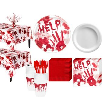 Bloody Hands Deluxe Party Kit