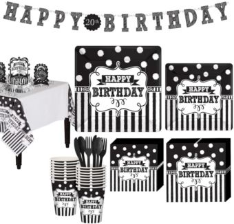 Chalkboard Birthday Basic Party Kit for 16 Guests