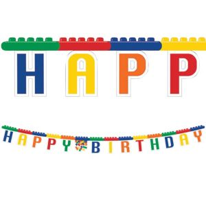 Building Blocks Birthday Banner