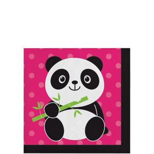 Panda Beverage Napkins 16ct