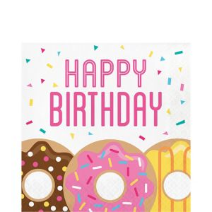 Donut Birthday Lunch Napkins 16ct