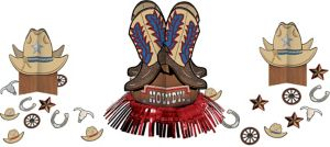 Yeehaw Western Table Decorating Kit 23pc