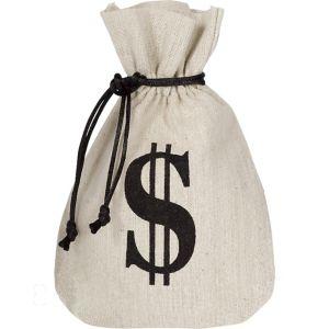 Burlap Money Bags Favor Bags 8ct