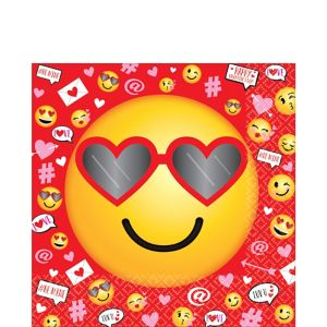 Smiley Valentine's Day Lunch Napkins 36ct