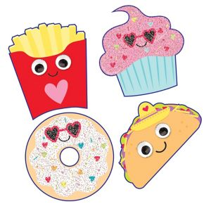 Food Puffy Stickers 1 Sheet