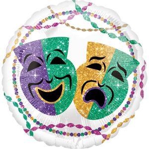 White Mardi Gras Balloon