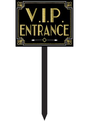 Glitter Hollywood VIP Entrance Yard Stake