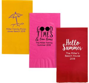 Personalized Summer Guest Towels