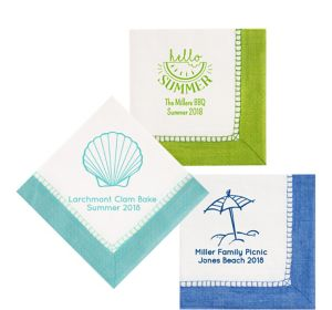 Personalized Summer Bordered Lunch Napkins