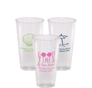 Personalized Summer Hard Plastic Cups 16oz