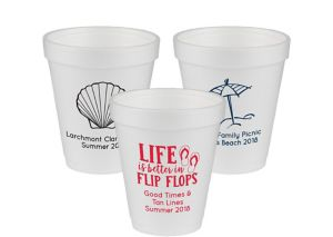 Personalized Summer Foam Cups 8oz