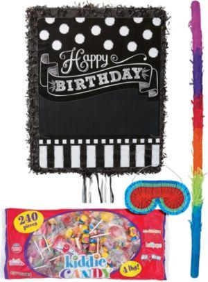 Personalized Chalkboard Birthday Pinata Kit