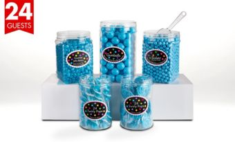 Caribbean Blue Candy Buffet Kit for 24 Guests