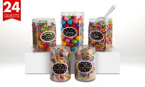 Rainbow Candy Buffet Kit for 24 Guests