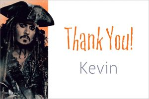 Custom Pirates of the Caribbean Thank You Note