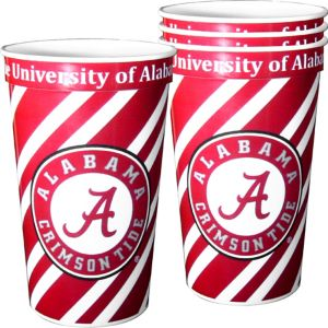 Alabama Crimson Tide Plastic Cups 4ct