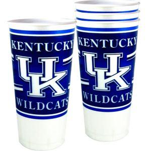 Kentucky Wildcats Plastic Cups 4ct