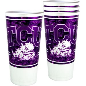 TCU Horned Frogs Plastic Cups 4ct