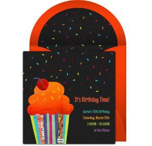 Online Collage Cupcake Invitations