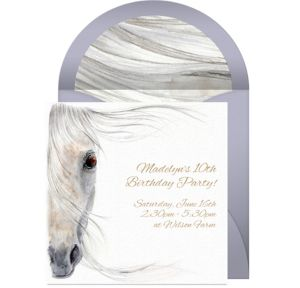 Online Beautiful Horse Invitations