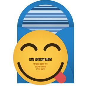 Online Yum Smiley Invitations