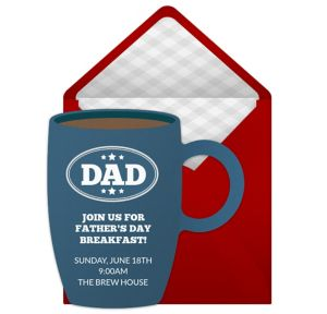 Online Fathers Day Breakfast Invitations