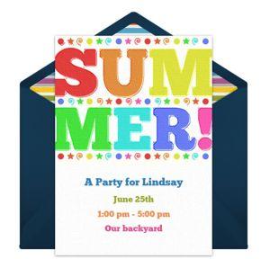 Online Summer Invitations