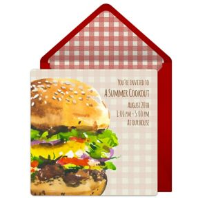 Online Summer Burger Invitations
