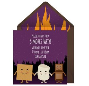 Online Smores Bonfire Invitations