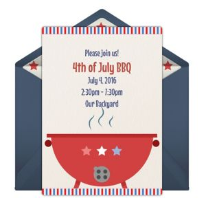 Online American Cookout Invitations