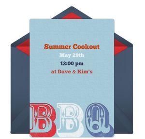 Online Patriotic BBQ Invitations