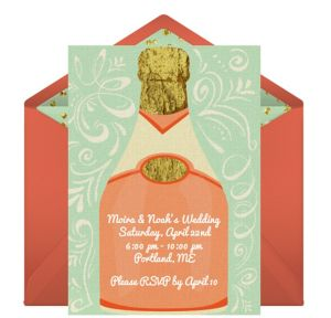 Online Wedding Bubbly Invitations