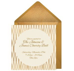 Online Gold Waves Invitations