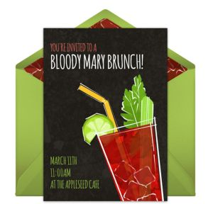 Online Bloody Mary Invitations